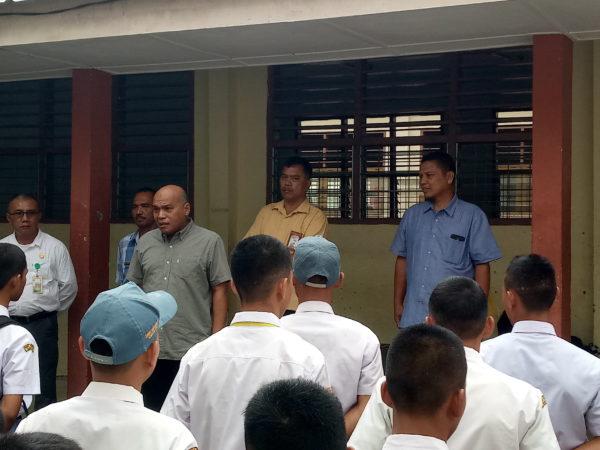 Kunjungan KABID SMK Dinas Pendidikan Prov. Sumatera Utara Bapak Amiruddin, S.Pd, MM dalam rangka Monitoring Ujian UNBK Tahun 2020